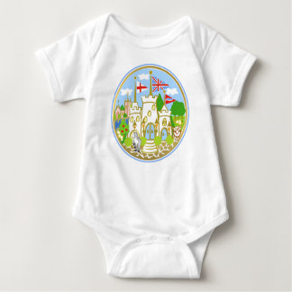 House of Hereford Blue Castle Baby Bodysuit