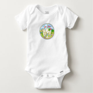 House of Hereford Blue Castle Baby Onesie