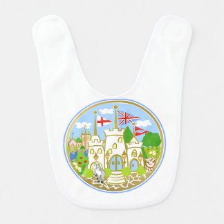 House of Hereford Blue Castle Bib