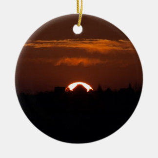 House Of The Falling Sun Ceramic Ornament