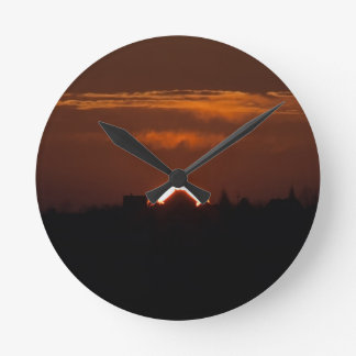 House Of The Falling Sun Round Clock