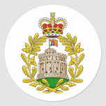 House of Windsor Royal Coat of Arms Round Sticker