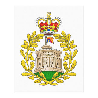 House of Windsor Royal Coat of Arms Stretched Canvas Print