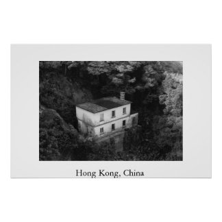 House on a Hill in Hong Kong Posters