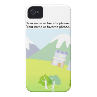 House on a hill on pastel blue background. Case-Mate iPhone 4 case