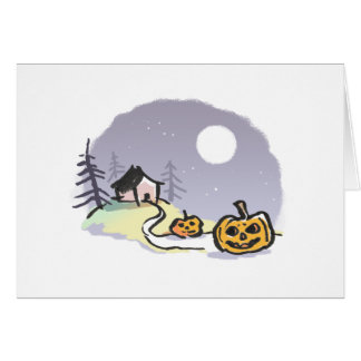 House on Haunted Hill Greeting Card {Halloween}