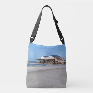 House on stilts at the beach of St. Peter Ording Crossbody Bag