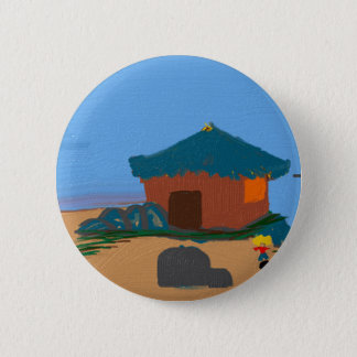 house on the bay 6 cm round badge