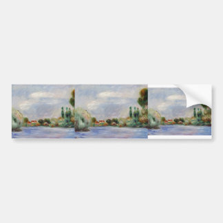 House on the River by Pierre-Auguste Renoir Bumper Sticker