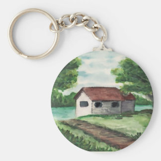 House on the River Key Ring