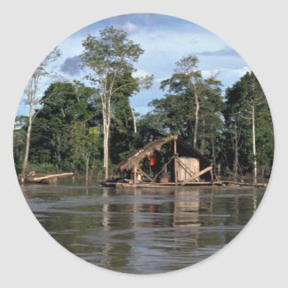 House on upper Amazon River Peru Stickers