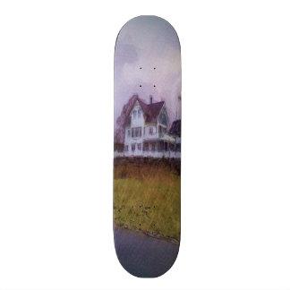 House photo drawing 20.6 cm skateboard deck