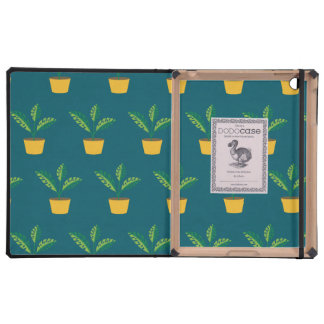 house plant blue green case for iPad