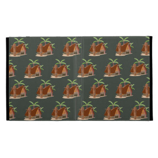 house plant brown green iPad case