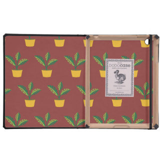 house plant red brown iPad cover