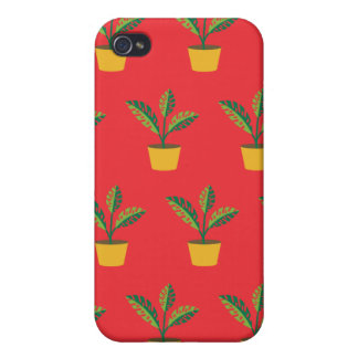 house plant red iPhone 4/4S covers