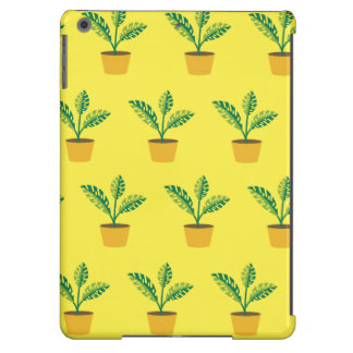 house plant yellow iPad air cover