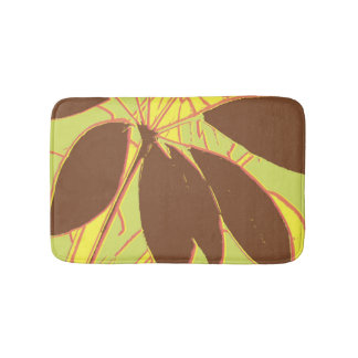 House Plant Yellow Green Red Bath Mat