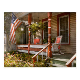 House - Porch - Traditional American Postcard