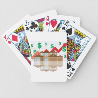House Rising Value Graph Illustration Bicycle Playing Cards