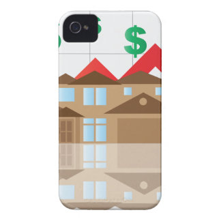 House Rising Value Graph Illustration Case-Mate iPhone 4 Cases