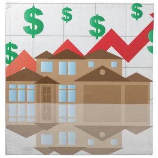 House Rising Value Graph Illustration Napkin