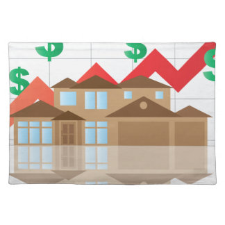 House Rising Value Graph Illustration Placemat