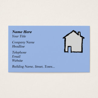 House Sketch. Black and Blue. Business Card