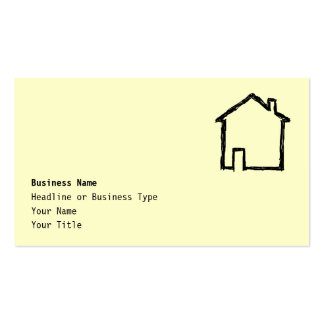House Sketch Black and Cream Business Card Templates