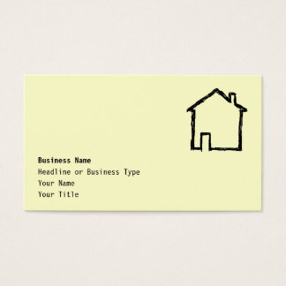 House Sketch. Black and Cream. Business Card