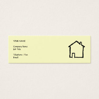 House Sketch. Black and Cream. Mini Business Card