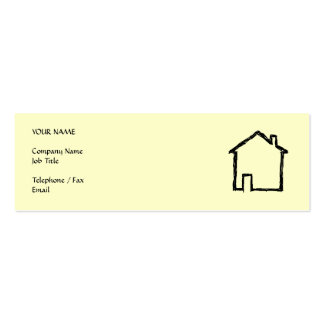 House Sketch. Black and Cream. Pack Of Skinny Business Cards