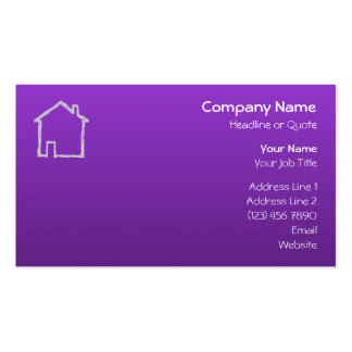 House Sketch Gray and Purple Business Cards