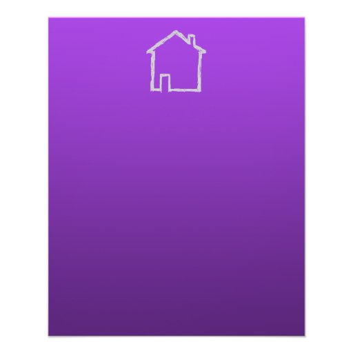 House Sketch. Gray and Purple. Flyers