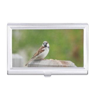 House Sparrow Business Card Holder