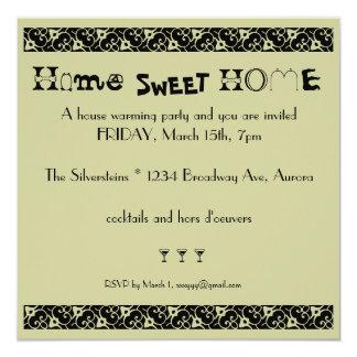 house warming 13 cm x 13 cm square invitation card