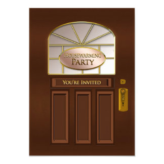 HOUSE WARMING PARTY INVITATION -  FRONT DOOR
