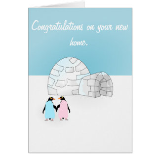 House warming Penguin card