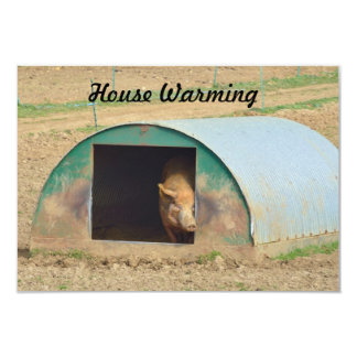 House Warming pig sty invitation sign