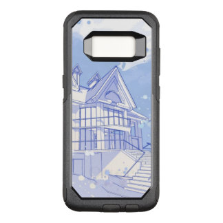house: watercolor draw OtterBox commuter samsung galaxy s8 case
