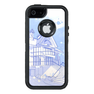 house: watercolor draw OtterBox iPhone 5/5s/SE case