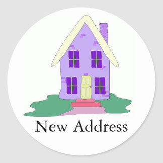 House We ve Moved Round Sticker