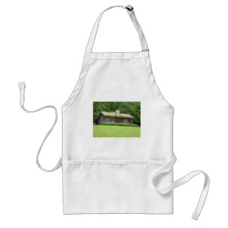 House with grass roof aprons