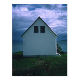 House with Stormy Sky on Hrisey Island, 2003 Postcard