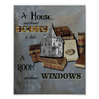 House without Books Collage Art Poster or Print