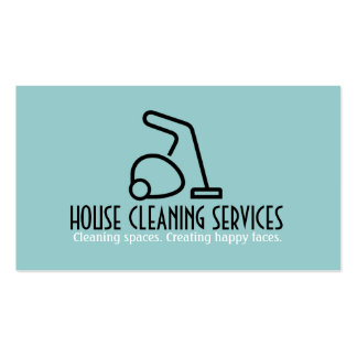 HouseCleaning Housekeeper Maid Business Cards