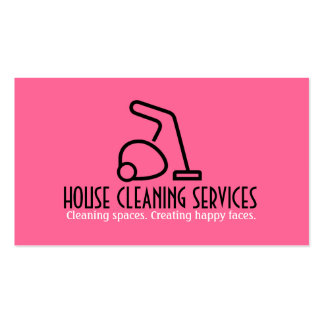 HouseCleaning Housekeeper Maid Business Card Template