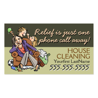 Housecleaning.Maid service.Custom text/color Double-Sided Standard Business Cards (Pack Of 100)