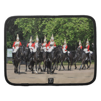 Household Cavalry mounted soldiers in London folio Planner