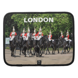 Household Cavalry mounted soldiers in London folio Folio Planners